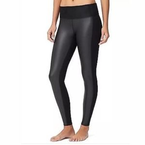 Athleta High Rise Gleam Faux Leather Front Tights